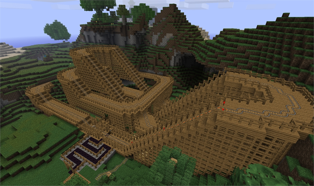 minecraft achterbahn bauen